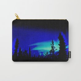 Aurora Borealis Forest Vibrant Carry-All Pouch