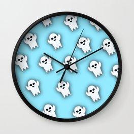 Blue Boo Wall Clock