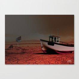 Desert Boat Canvas Print