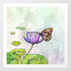 Serene Bloom Art Print