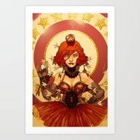 circus Art Prints featuring Circus by Lettie Bug