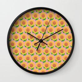 Sunflower Pattern_D Wall Clock