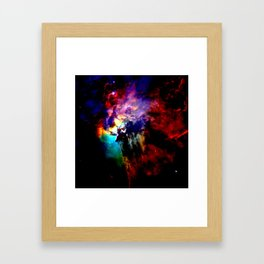 Vivid Colorful Lagoon Nebula Framed Art Print