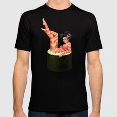 Sushi Girl Black SMALL Mens Fitted Tee