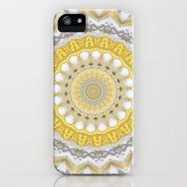 Bohemian Silver Gold Mandala iPhone Case