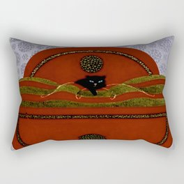 "Art Deco Design ""Emerald Eyes by Erté Rectangular Pillow"