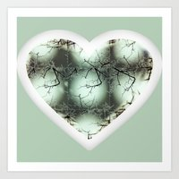 Heart of the Fallen Vase Art Print
