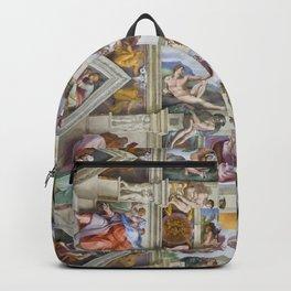 "Michelangelo Buonarroti ""Sistine Chapel ceiling"" Backpack"