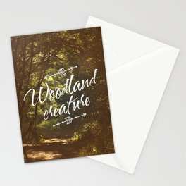 Woodland creature Stationery Cards