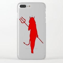 Little Devil Clear iPhone Case