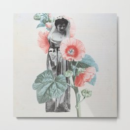 Botanical Bride Metal Print