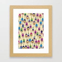 cyclists race Framed Art Print