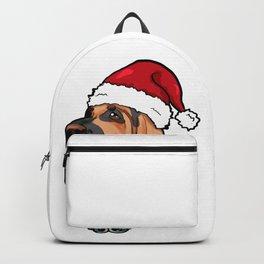 Bloodhound Dog Christmas Hat Present Backpack