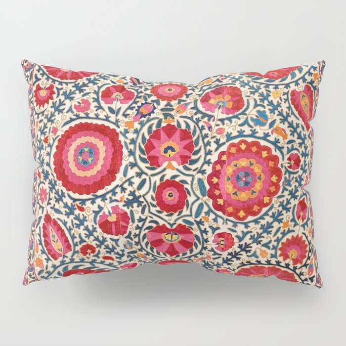 Kermina Suzani Uzbekistan Embroidery Print Pillow Sham