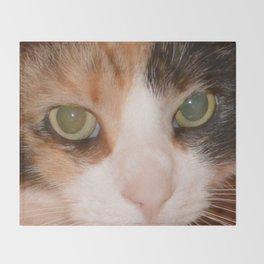 Cat Eyes, Green Eyes, Bedroom Eyes Throw Blanket