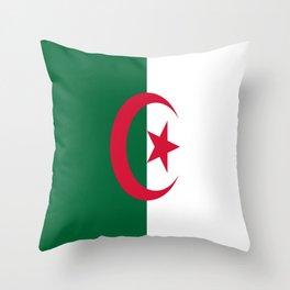 Flag of algeria -algerian,algiers,camus,chaabi,oran,constantine,Annaba. Throw Pillow