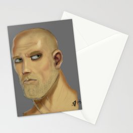 First Male Digital Portrait Painting Stationery Cards