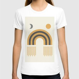 Sun and Moon Rainbow Midcentury style T-shirt
