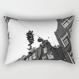 Hanging shoes in Amsterdam Rectangular Pillow
