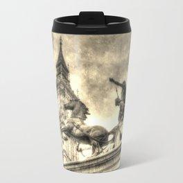 Big Ben and the Boadicea Statue Vintage Travel Mug