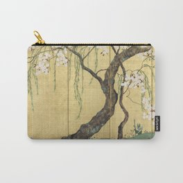 Cherry Tree Japanese Edo Period Six-Panel Gold Leaf Screen Carry-All Pouch