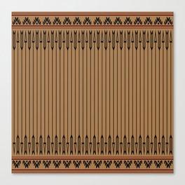 Arrows (Brown Black) Canvas Print