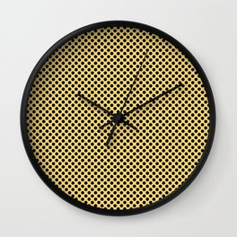 Lemon Drop and Black Polka Dots Wall Clock