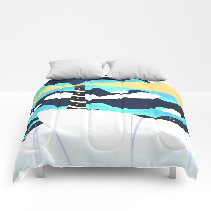 """Cold Soldier - Revival of """"Nothern Wall Arctic Lighthouse #2"""" Comforters"""