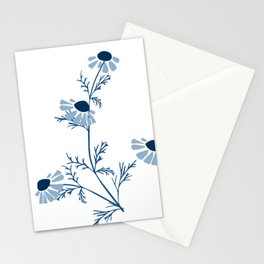 Chamomile Collection - Tea Time Classic Blue Stationery Cards
