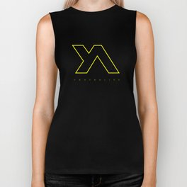 Youth Alive Yellow & Black on Black Biker Tank