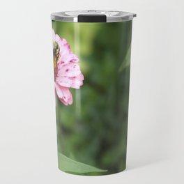 Flower and Bee Travel Mug