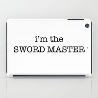 sword iPad Cases featuring sword master by Word