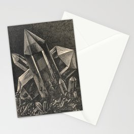 Crystals Ink Illustration Popular scientific recreations in natural philosophy-1883 Stationery Cards