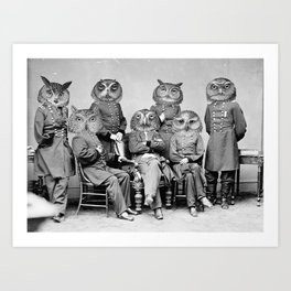 Owls of the Republic Art Print