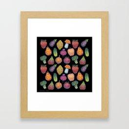 Vitamins (black) Framed Art Print