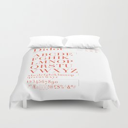 Didot Typography Poster Duvet Cover