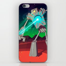 Robot Planet iPhone Skin