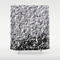 ice Shower Curtains featuring Ice by Stevyn Llewellyn