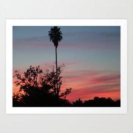Pink Sunset Two Art Print