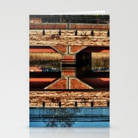 pagan Stationery Cards featuring Pagan River Bridge by Anthony M. Davis