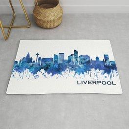 Liverpool England Skyline Blue Rug