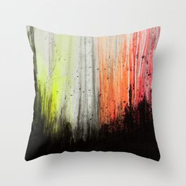 Trees in Neon Throw Pillow