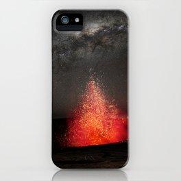 Kilauea Volcano Eruption Under The Stars. iPhone Case