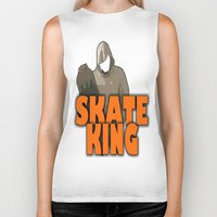 skateboard Biker Tanks featuring SKATEBOARD  by Robleedesigns