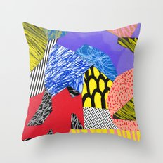 Colors & Shapes Throw Pillow