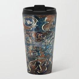Metal Meltdown Bronze/Blue Travel Mug