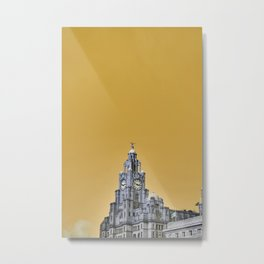 Liverpool Architecture #3 - Yellow Metal Print