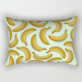Fruit pattern. Background from bananas with realistic shadows Rectangular Pillow