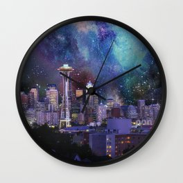 Spacey Seattle Wall Clock