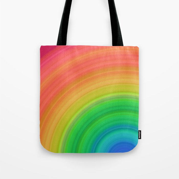 Bright Rainbow | Abstract gradient pattern Tote Bag